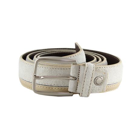 Teegan Dual Texture Belt // Beige