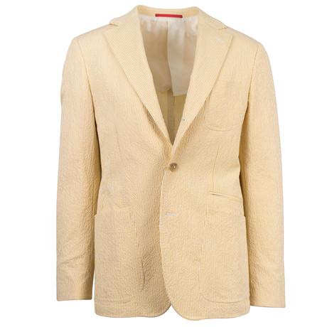 Lemuel Cotton Blend Slim Fit Sport Coat // Yellow