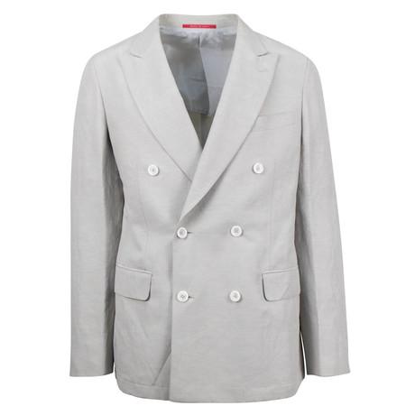 Kale Linen Blend Slim Fit Sport Coat // Gray