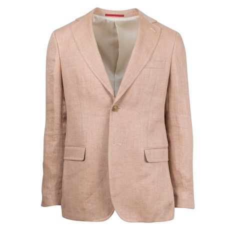 Pal Zileri // Kaegan Linen Slim Fit Sport Coat // Salmon (US: 48R)
