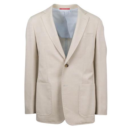 Kadeem Wool Blend Slim Fit Sport Coat // Beige