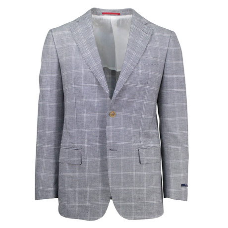 Pal Zileri // Jabez Cotton Blend Slim Fit Sport Coat // Gray (US: 48R)