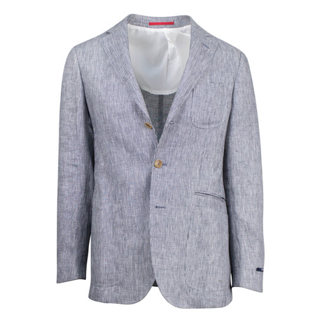 Pal Zileri // Hosteen Linen Slim Fit Sport Coat // Gray (US: 48R)