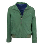 Pal Zileri // Lars Suede Leather Bomber Jacket // Green (Euro: 48)