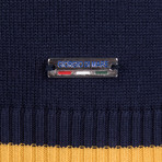 Reed Pullover // Navy + Yellow + Ecru  (2XL)