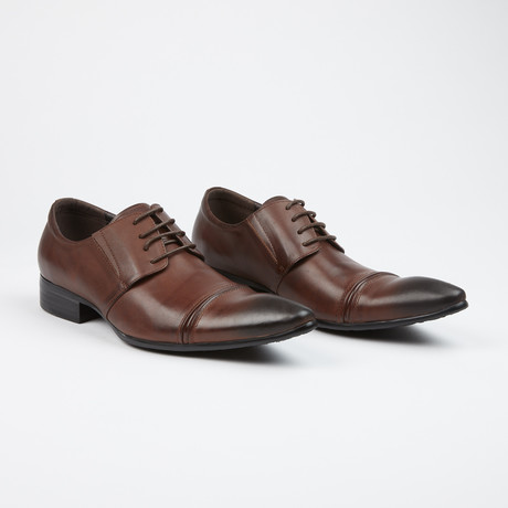 Leather Cap Toe Derby Shoes // Brown (US: 7)
