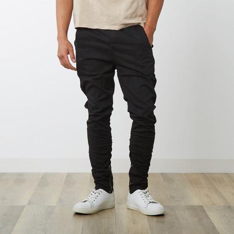 Pintuck Trouser // Black