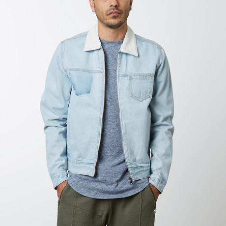 Zip Denim Jacket // Vintage Bleach