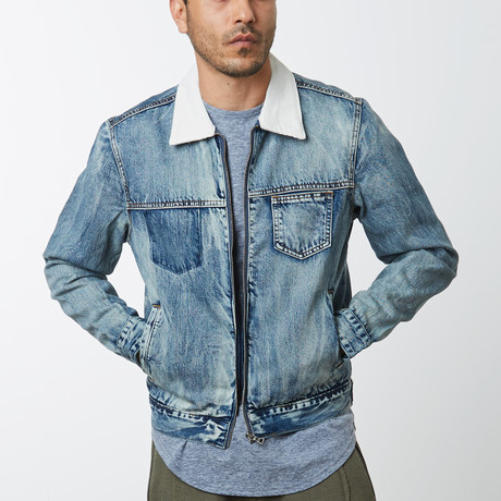 Zip Denim Jacket // Heritage Blue (S)