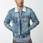 Zip Denim Jacket // Heritage Blue (M)