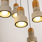 Qie Pendant Light // Bamboo (Small)