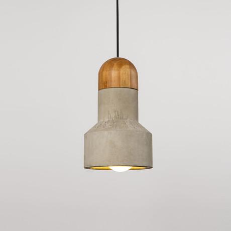 Qie Pendant Light // Bamboo (Small)