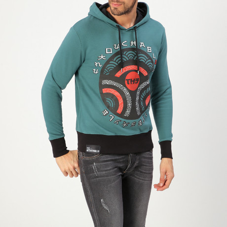 Japan Sweatshirt // Sweet Green