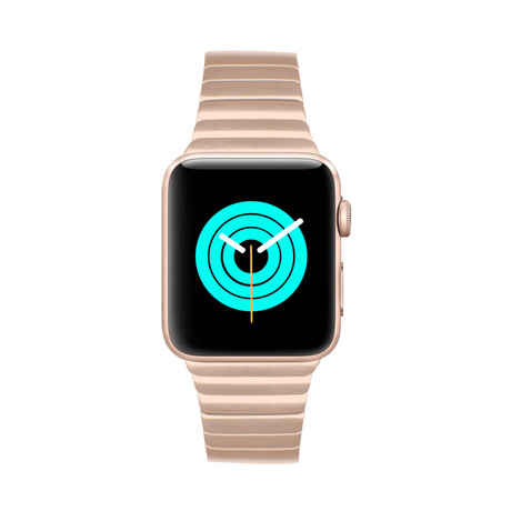 Apple Watch Link Bracelet // Gold Aluminum Series 3 + 4 (38mm - 40mm)