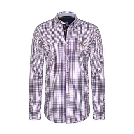 Gurdeep Button Down Shirt // White + Purple (S)