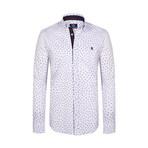 Acosta Button Down Shirt // White + Navy (2XL)