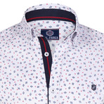 Acosta Button Down Shirt // White + Navy (S)