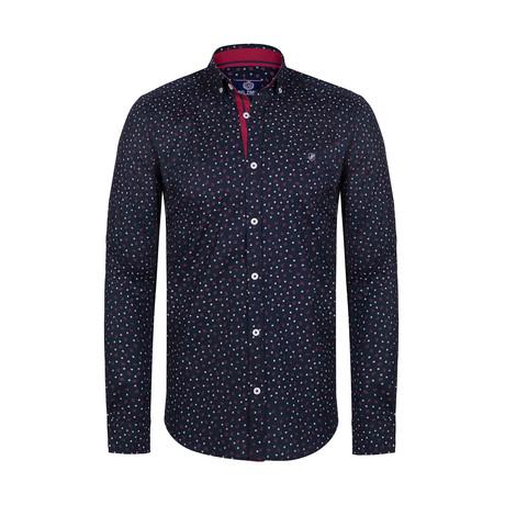 Arrasmith Button Down Shirt // Black + Red (S)