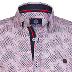Haworth Button Down Shirt // White + Red (S)
