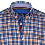 Irvine Button Down Shirt // Blue + Yellow (2XL)