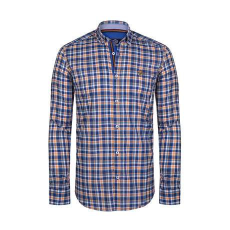 Irvine Button Down Shirt // Blue + Yellow (S)