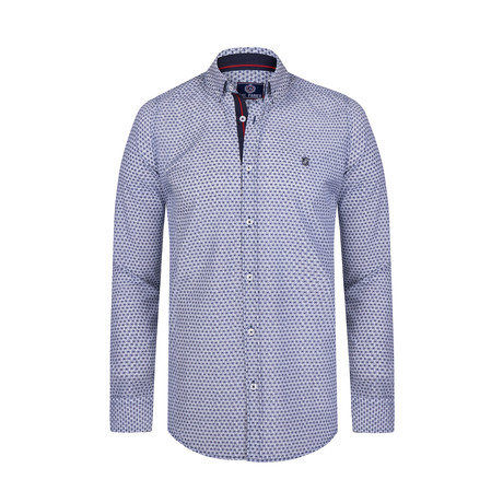Jaskaran Button Down Shirt // White + Navy (S)