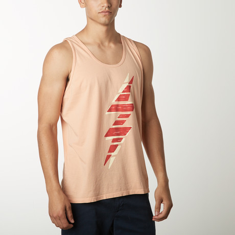 Double Bolt Tank Graphic T-Shirt // Clay