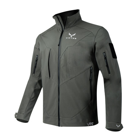 LEAF Astraes Mid Layer Jacket // Gray (S)