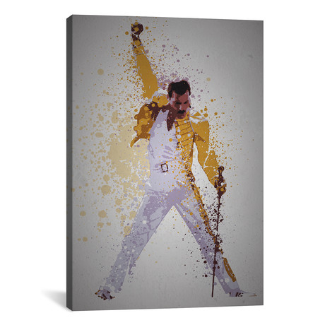 "Freddie Mercury // TM Creative Design (18""W x 26""H x 0.75""D)"