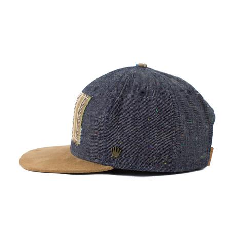 online store 9e632 74c07 NBI Bane Snapback    Navy + Wheat