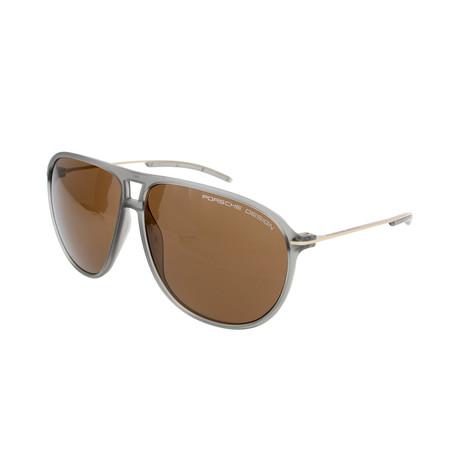 Men's P8635 Sunglasses // Transparent Gray