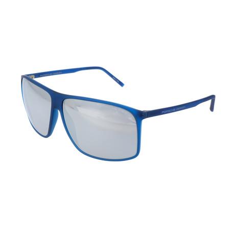 Men's P8594 Sunglasses // Blue + Mercury Mirror