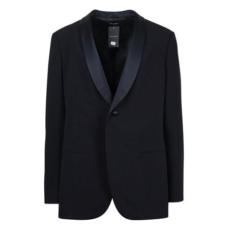 Giorgio Armani // Label Wool Shawl Collar Tuxedo Suit // Black (Euro: 48)