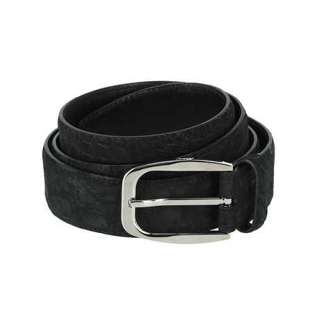 Classic Leather Belt // Black + Gray (Euro: 80)