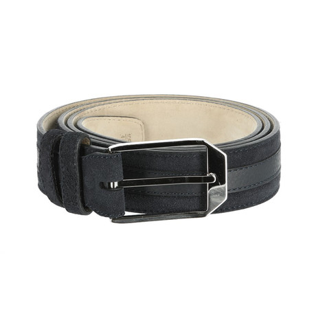 Classic Leather Belt // Ink Navy (Euro: 80)