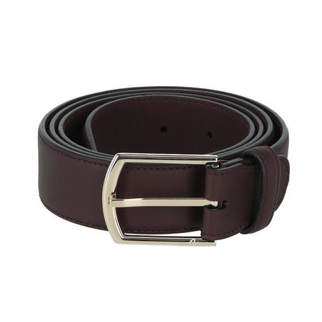 Leather Belt // Bordeaux (Euro: 80)