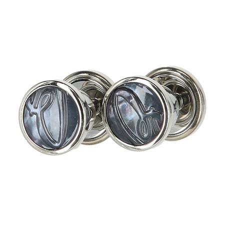 Jewelry Cufflinks // Dark Grey