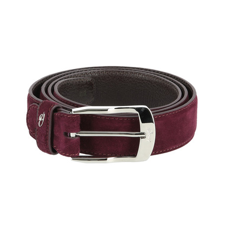 Classic Leather Belt // Beetroot (Euro: 80)