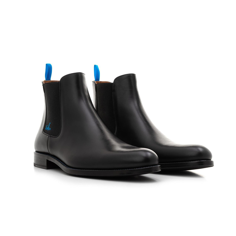 f0de7353e6d3 Chelsea Boots YF Calf Leather    Black And Blue (Euro  39) - Serfan ...