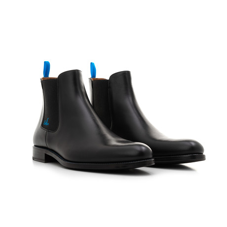 Chelsea Boots YF Calf Leather // Black + Blue (Euro: 39)