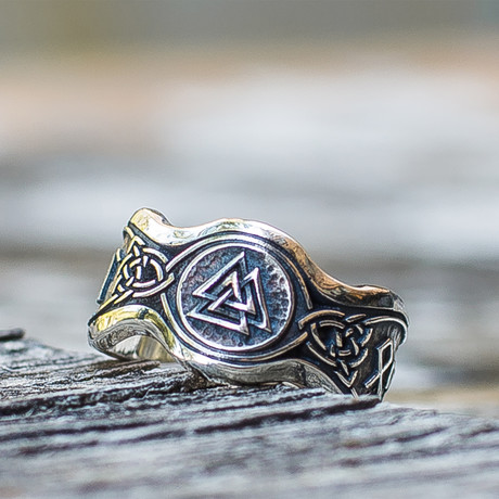 Viking Collection // Valknut + Hail Odin Runes Ring II (5)