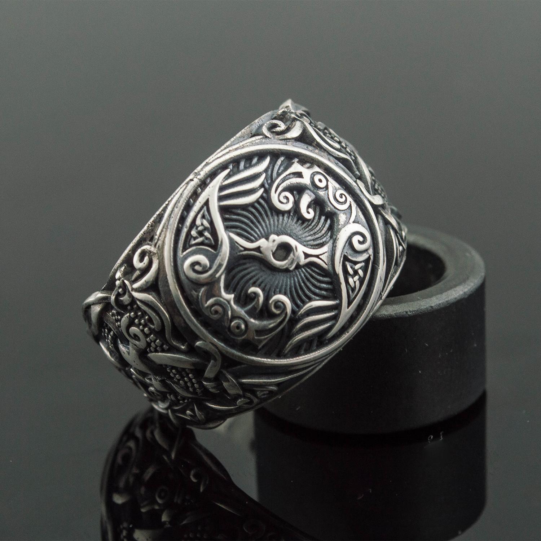 mammen collection rings ravens huginn and muninn 6 viking
