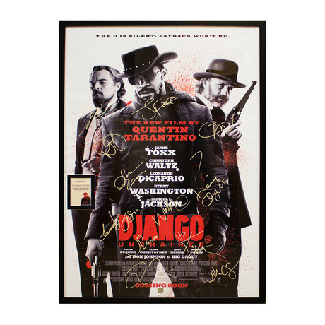 Signed + Framed Poster // Django Unchained
