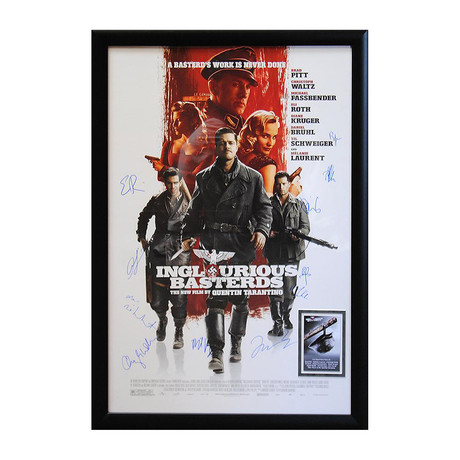 Signed + Framed Poster // Inglourious Basterds