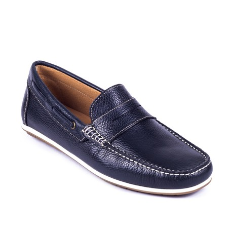 Banti Leather Moccasin // Blue
