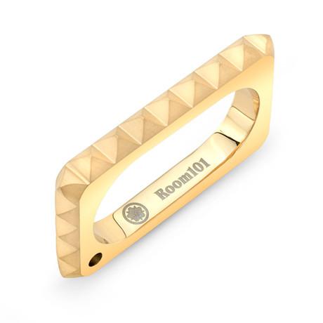 Punk 2 Finger Ring // Gold Vermeil (6.5)