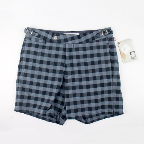 Swim-Ology // Swim Trunks // Checkered Gray