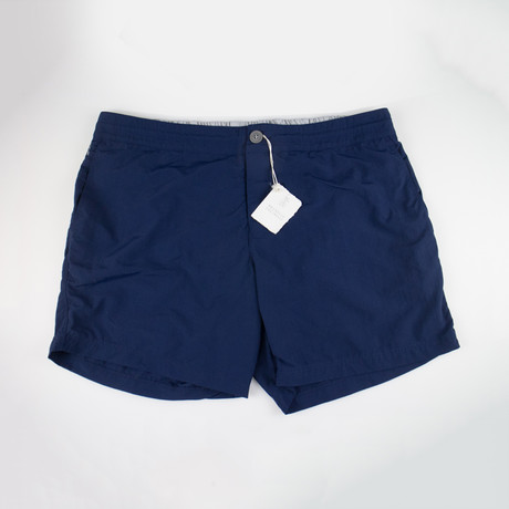 Brunello Cucinelli // Swim Trunks // Navy Blue