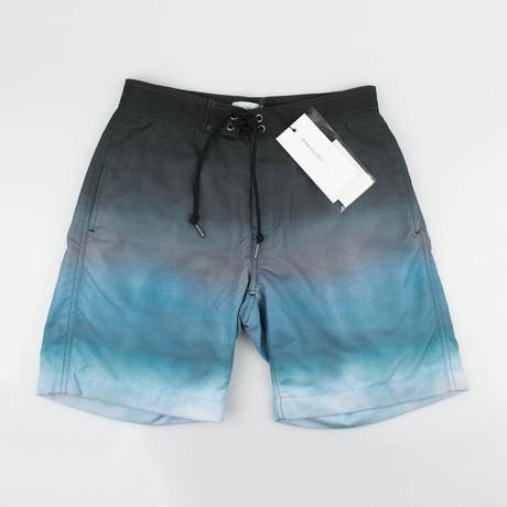 John Elliott // Swim Trunks // Gradient Gray Blue