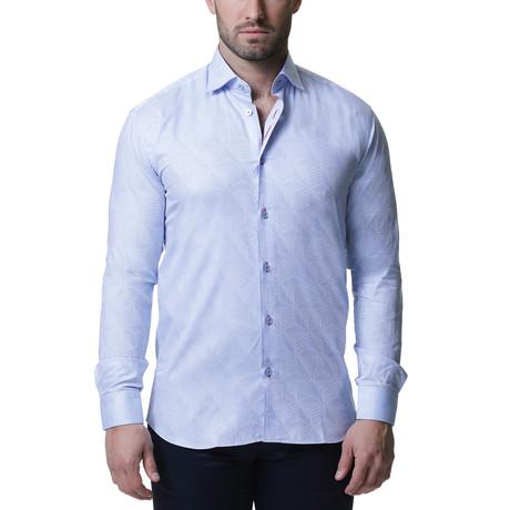 Maceoo // Luxor Dress Shirt // Cycad Blue (S)